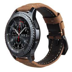 V-モロ本革ストラップ用ギアs3 smart watchバンド交換腕時計ブレスレット用ギアs3クラシックフロンティアsmart watch