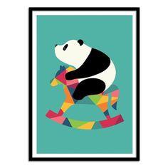 Affiche 50 x 70 cm - Bébé Panda WALL EDITIONS
