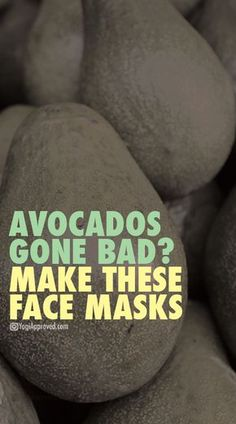 DIY face masks are all the rage, but DIY avocado face masks to it the the next level! Use your bad avocados to make these five avocado face mask recipes. Face Scrub Homemade, Homemade Face Masks, Diy Face Mask, Avocado Face Mask Diy, Homemade Blush, Homemade Moisturizer, Face Mask For Blackheads, Charcoal Face Mask, Happy Skin