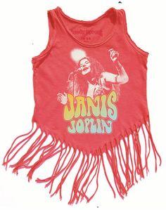Rocker Janis Joplin Hippy shake tank at Kamari Kids http://www.kamarikids.com/girls/rowdy-sprout-janis-joplin-hippy-shake
