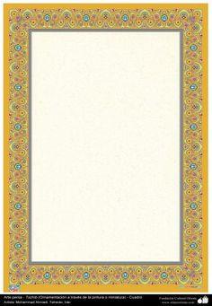 Arte islámico  Tazhib persa - cuadro - 14