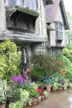 Front entrance to the house, Great Dixter, Northiam, Nr. Rye, East Sussex.