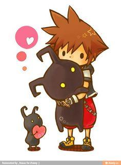 Sora and kawaii heartless