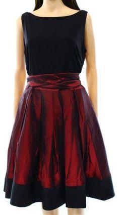 S.L. Fashions NEW Black Red Women Size 16 Pleated Side Bow Sheath Dress $109 557   eBay