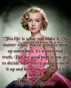 Discover and share Cute Marilyn Monroe Quotes. Explore our collection of motivational and famous quotes by authors you know and love. Life Quotes Love, New Quotes, Woman Quotes, True Quotes, Quotes To Live By, Inspirational Quotes, Motivational, Faith Quotes, Marilyn Monroe Quotes