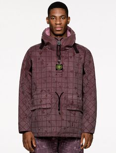 Gore Tex Fabric, Adventure Style, Bomber Jacket, Hooded Jacket, Shearling Jacket, Stone Island, Puffer Jackets, Black And Grey, Fall Winter