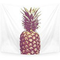 "Society6 Pineapple Wall Tapestry Small: 51"" x 60"""