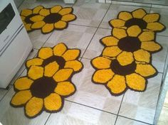 Crochet Carpet, Bathroom Rugs, Punch Needle, Felt Crafts, Crochet Projects, Bath Mat, Projects To Try, Arts And Crafts, Pattern