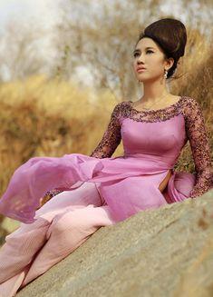 Home :: Modern Ao Dai :: Purple :: Purple Modern Ao Dai MU051