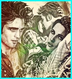 "Robert Pattinson And Kristen Stewart As ""Edward And Bella Of Twilight Saga"" Drawing...."