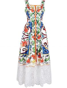 To find out about the Strap Backless Print Contrast Lace Dress at SHEIN, part of our latest Day Dresses ready to shop online today! Long Summer Dresses, Simple Dresses, Casual Dresses For Women, Pretty Dresses, Look Fashion, Girl Fashion, Fashion Outfits, Lace Dress, Dress Up