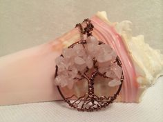 Tree Of Life Necklace Rose Quartz Pendant On by Just4FunDesign, $30.00