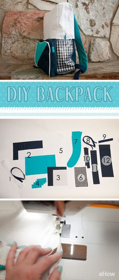 A backpack is the crucial accessory for back-to-school! Kids can make their own designs and add any personal flares with this DIY backpack. Some sewing required, but this tutorial breaks it down with pictures and detailed descriptions! http://www.ehow.com/how_4866436_make-backpack.html?utm_source=pinterest.com&utm_medium=referral&utm_content=inline&utm_campaign=fanpage