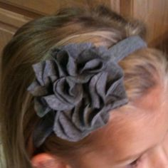 Fun, cute, and easy t-shirt headband and flower!