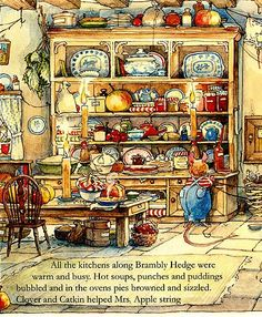 Jill Barklem Brambly Hedge a place that I loved to return to time time again My Beloved Books Brambly Hedge, Beloved Book, Children's Book Illustration, Book Illustrations, Kids Artwork, Hamsters, Woodland Creatures, Whimsical Art, Beatrix Potter