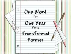 """Step by step instructions to put together a """"One Word"""" journal for 2014! GREAT idea!!!"""