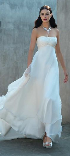 flowing wedding dress by Valentini