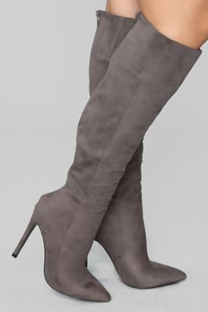 05ad23cb8ce Typical Me Heeled Boot - Grey