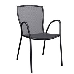 Brio garden armchair steel mesh black