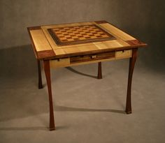 Hand Crafted Game / chess table by Art Woodstone Studio | CustomMade.com