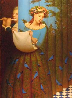 "Adrey Remnev  ""Papagena and Papageno"" 2007.   Oil on canvas"