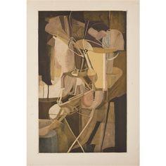 Artwork by Marcel Duchamp, La Mariée, Made of Color aquatint