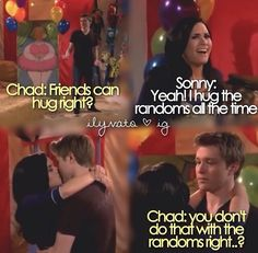 Chad and Sonny...I liked them together but then she quit the show and it was all gone