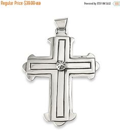 Navajo Silver Vintage Cross Pendant, Native American Vintage Cross Pendant, Navajo Silver Pendant, Freeshipping USA, Gift for her