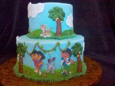 dora and diego cake www.wbcustomcakes.com