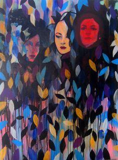 "SEAWEED, 2009, acrylic on canvas, 30 x 40"" Joshua Petker"
