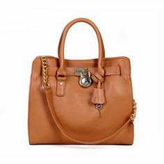 Michael Kors Hamilton Smooth Outlook Large Brown Tote