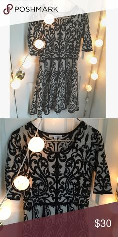 Sweater dress Great condition brocade sweater dress A line style. Only listed as Anthropologie for exposure but I have other great anthropologie items in my closet! Anthropologie Dresses Midi