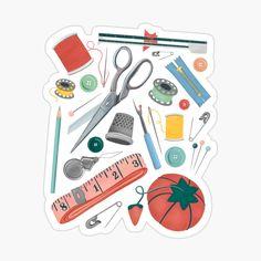 Sewing Art, Sewing Tools, Sewing Notions, Pixar Poster, Dibujos Zentangle Art, Up Pixar, Sketches Tutorial, Minimalist Poster, Vintage Crafts