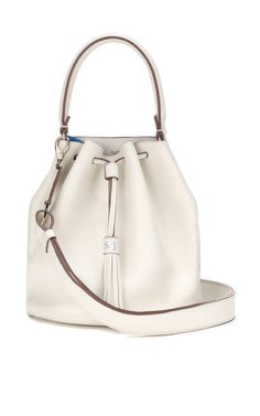 Vaughan Crossbody In White And London Blue Butter Double by Anya Hindmarch (=)