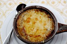 Gluten-free French Onion Soup with Crostini and Gruyere #Rudis
