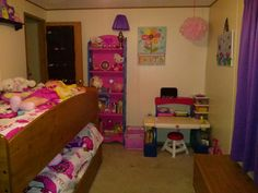 One side of their finished room