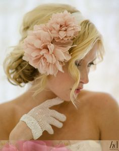light coral flower handband love it
