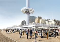 Marks Barfield Architects, London Eye, British Airways i360, British Airways i360 by Marks Barfield Architects, observation tower, world's first vertical cable car, cable car, vertical cable car, Brighton observation tower
