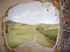 trompe l'oeil wall mural
