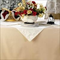 TwillTex Tablecloths In 20 Colors. 50/50 Cotton Poly Blend, Machine Wash No