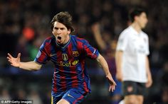 Messi scored four against Arsenal in the second-leg to put Barcelona through in April 2010