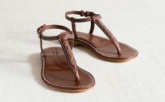 Devon sandal, inspired by equestrian leatherwork, by Katharine Page.