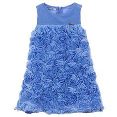 Mayoral - Rosette Dress Periwinkle