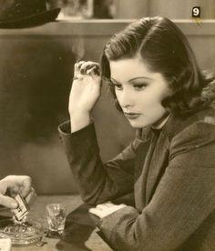 Lucille Ball in a Garbo-esque pose.