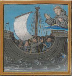 BONAVENTURE (saint), card. O.F.M. Vie et miracles de saint François d'Assise  Date d'édition :  XVe siècle, vers 1480  NAF 28640  Folio 129r