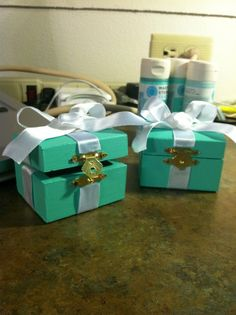 I have been trying to find ways to repurpose boxes like these, and this is EXACTLY what I need! I can't wait to actually do a Tiffany & Co. box though :)