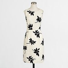 Factory printed textured cotton dress