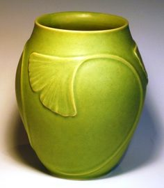 Ginkgo leaf swirl vase from JW Art Pottery This is a great Studio who makes…