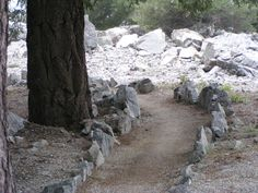Kinhin (Meditation) Path. Mt. Baldy Zen Center. California.
