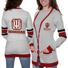 omg saw this the other day at Universitees and feel in love! Indiana Hoosiers Ladies Study Hall Long Sleeve Cardigan LOVE